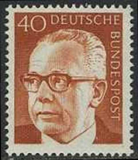 BUND 1970 Michel-Nummer 0639 postfrisch EINZELMARKE