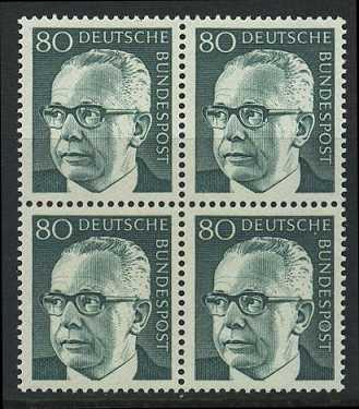 BUND 1970 Michel-Nummer 0642 postfrisch BLOCK