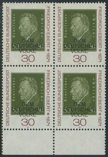 BUND 1971 Michel-Nummer 0659 postfrisch BLOCK RÄNDER unten
