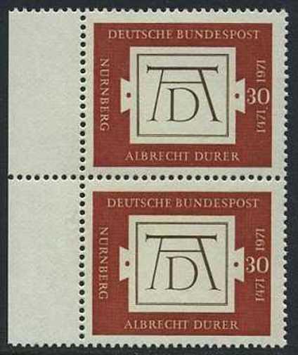 BUND 1971 Michel-Nummer 0677 postfrisch vert.PAAR RAND links