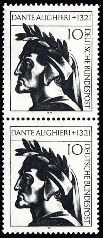 BUND 1971 Michel-Nummer 0693 postfrisch vert.PAAR