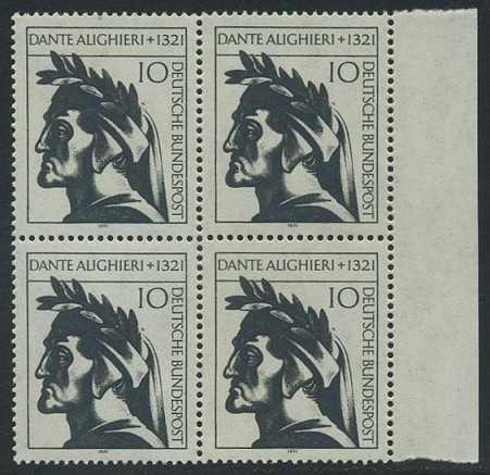 BUND 1971 Michel-Nummer 0693 postfrisch BLOCK RÄNDER rechts