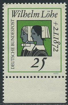 BUND 1972 Michel-Nummer 0710 postfrisch EINZELMARKE RAND unten