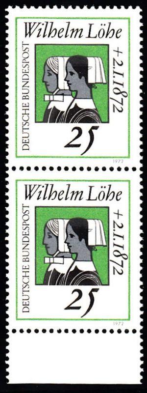 BUND 1972 Michel-Nummer 0710 postfrisch vert.PAAR RAND unten