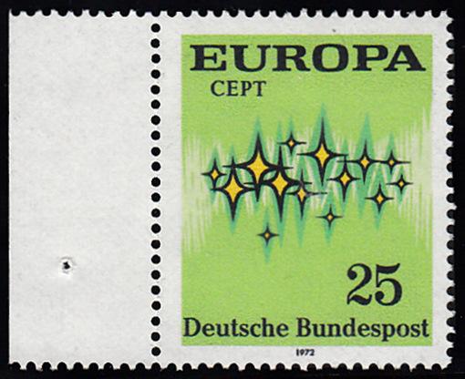 BUND 1972 Michel-Nummer 0716 postfrisch EINZELMARKE RAND links