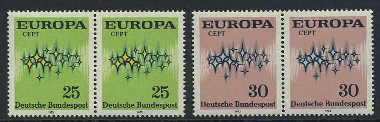 BUND 1972 Michel-Nummer 0716-0717 postfrisch SATZ(2) horiz.PAARE
