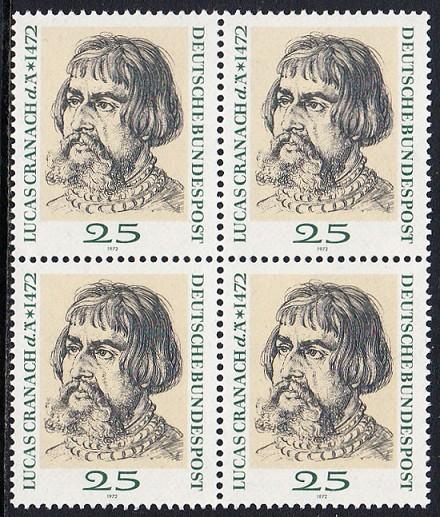 BUND 1972 Michel-Nummer 0718 postfrisch BLOCK