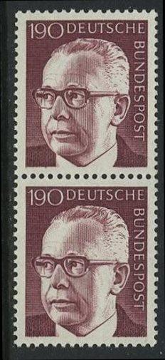 BUND 1972 Michel-Nummer 0732 postfrisch vert.PAAR