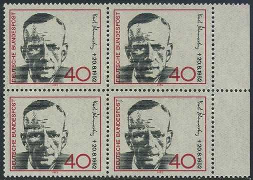 BUND 1972 Michel-Nummer 0738 postfrisch BLOCK RÄNDER rechts