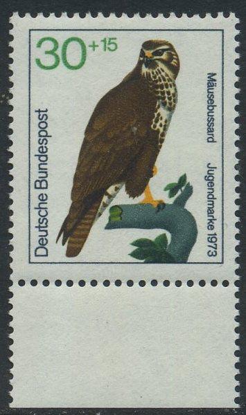 BUND 1973 Michel-Nummer 0755 postfrisch EINZELMARKE RAND unten