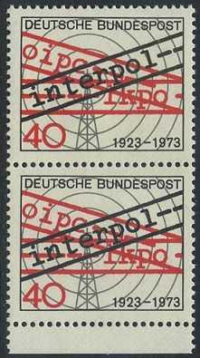 BUND 1973 Michel-Nummer 0759 postfrisch vert.PAAR RAND unten
