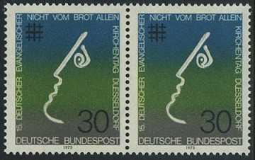 BUND 1973 Michel-Nummer 0772 postfrisch horiz.PAAR