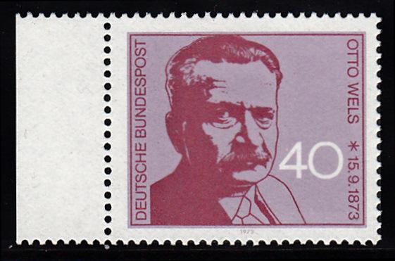 BUND 1973 Michel-Nummer 0780 postfrisch EINZELMARKE RAND links