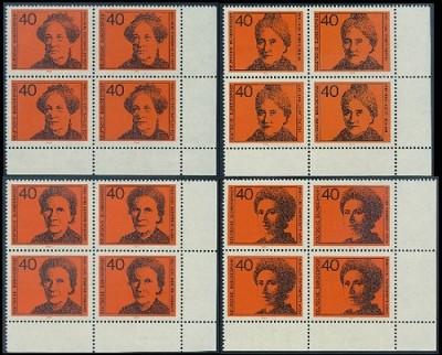 BUND 1974 Michel-Nummer 0791-0794 postfrisch SATZ(4) BLÖCKE ECKRAND unten rechts