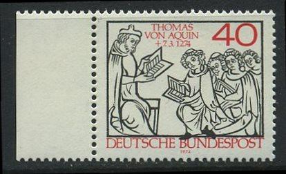 BUND 1974 Michel-Nummer 0795 postfrisch EINZELMARKE RAND links