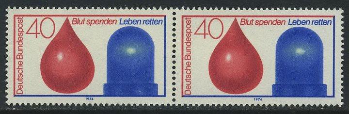 BUND 1974 Michel-Nummer 0797 postfrisch horiz.PAAR