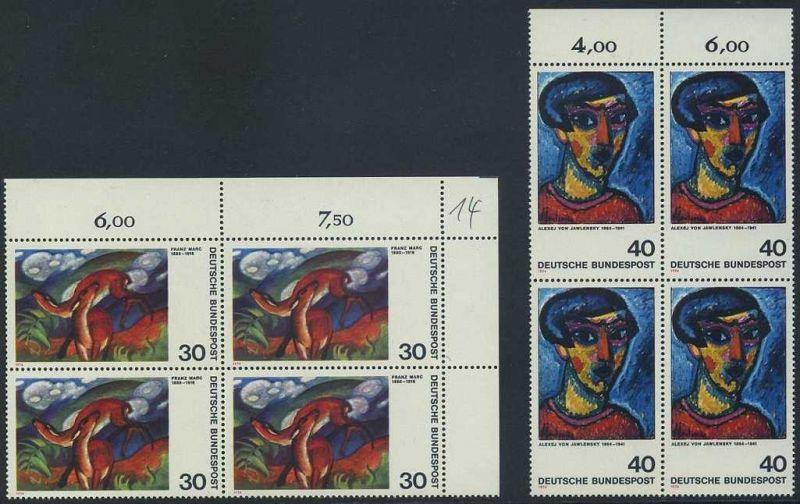 BUND 1974 Michel-Nummer 0798-0799 postfrisch SATZ(2) BLÖCKE (a1)