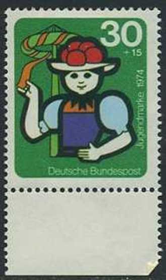 BUND 1974 Michel-Nummer 0801 postfrisch EINZELMARKE RAND unten