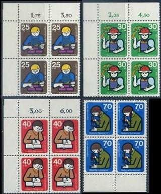 BUND 1974 Michel-Nummer 0800-0803 postfrisch SATZ(4) BLÖCKE (a1)