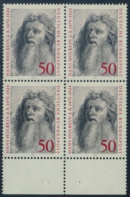 BUND 1974 Michel-Nummer 0813 postfrisch BLOCK RÄNDER unten