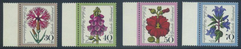 BUND 1974 Michel-Nummer 0818-0821 postfrisch SATZ(4) EINZELMARKEN RÄNDER links
