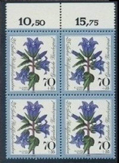 BUND 1974 Michel-Nummer 0818-0821 postfrisch SATZ(4) BLÖCKE (a1)