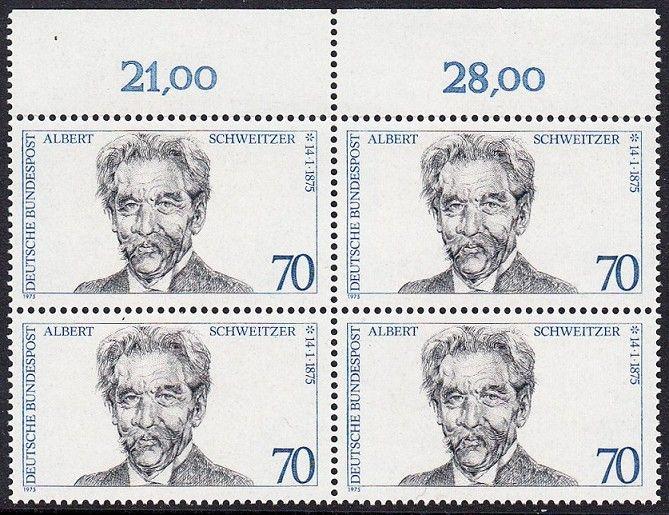 BUND 1975 Michel-Nummer 0830 postfrisch BLOCK RÄNDER oben 0