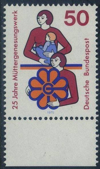 BUND 1975 Michel-Nummer 0831 postfrisch EINZELMARKE RAND unten 0