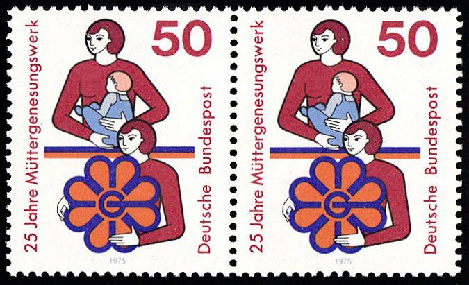 BUND 1975 Michel-Nummer 0831 postfrisch horiz.PAAR 0