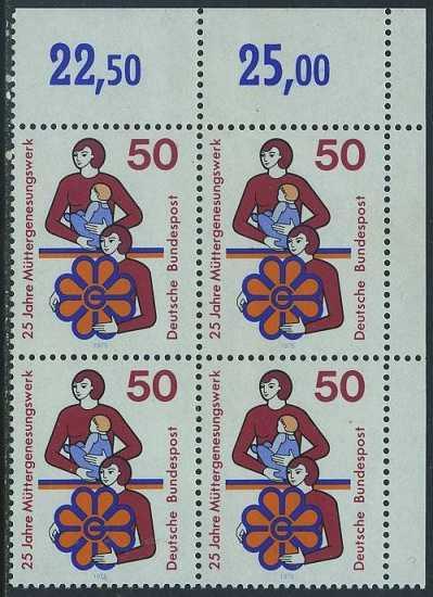 BUND 1975 Michel-Nummer 0831 postfrisch BLOCK ECKRAND oben rechts 0