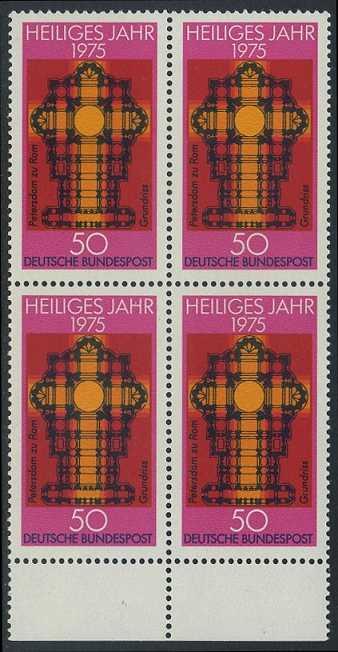 BUND 1975 Michel-Nummer 0834 postfrisch BLOCK RÄNDER unten 0