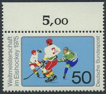 BUND 1975 Michel-Nummer 0835 postfrisch EINZELMARKE RAND oben (a)