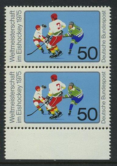 BUND 1975 Michel-Nummer 0835 postfrisch vert.PAAR RAND unten