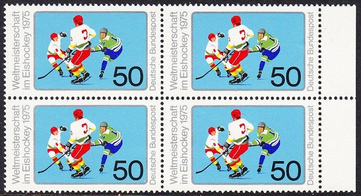 BUND 1975 Michel-Nummer 0835 postfrisch BLOCK RÄNDER rechts 0