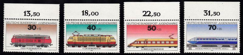 BUND 1975 Michel-Nummer 0836-0839 postfrisch SATZ(4) EINZELMARKEN RÄNDER oben 0