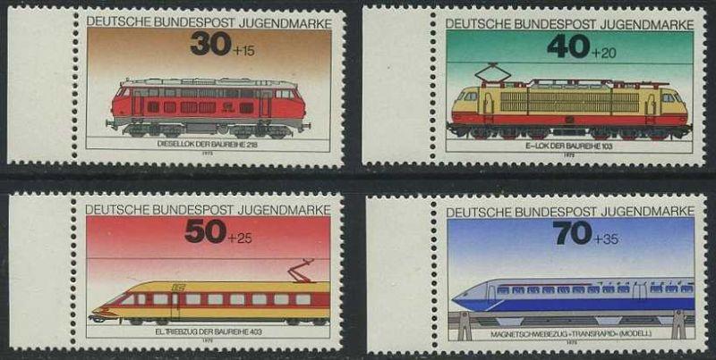 BUND 1975 Michel-Nummer 0836-0839 postfrisch SATZ(4) EINZELMARKEN RÄNDER links