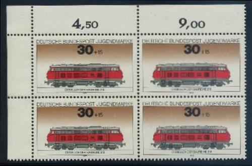 BUND 1975 Michel-Nummer 0836-0839 postfrisch SATZ(4) BLÖCKE (a1) 0