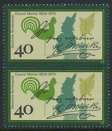 BUND 1975 Michel-Nummer 0842 postfrisch vert.PAAR 0