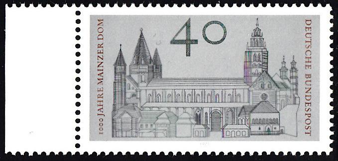 BUND 1975 Michel-Nummer 0845 postfrisch EINZELMARKE RAND links 0