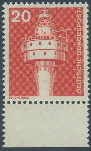 BUND 1975 Michel-Nummer 0848 postfrisch EINZELMARKE RAND unten 0