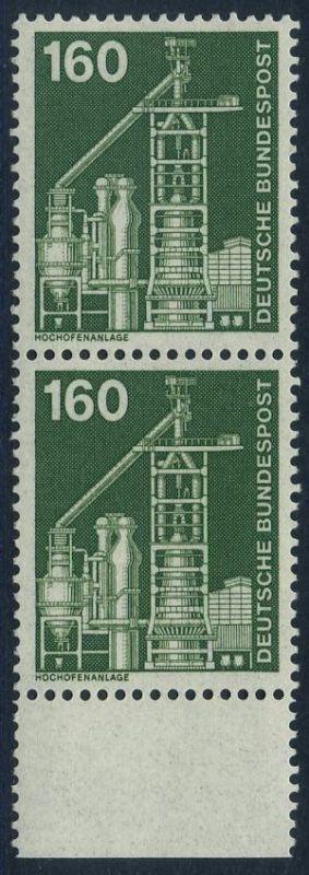 BUND 1975 Michel-Nummer 0857 postfrisch vert.PAAR RAND unten