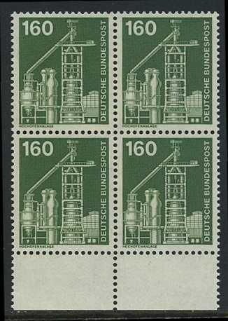 BUND 1975 Michel-Nummer 0857 postfrisch BLOCK RÄNDER unten (a)