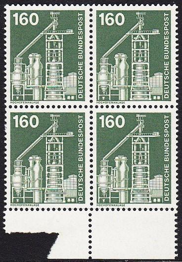 BUND 1975 Michel-Nummer 0857 postfrisch BLOCK RÄNDER unten (b)