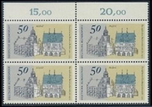 BUND 1975 Michel-Nummer 0860-0863 postfrisch SATZ(4) BLÖCKE (a1)