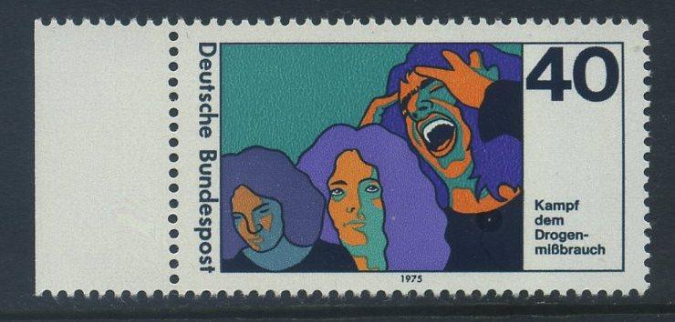 BUND 1975 Michel-Nummer 0864 postfrisch EINZELMARKE RAND links 0