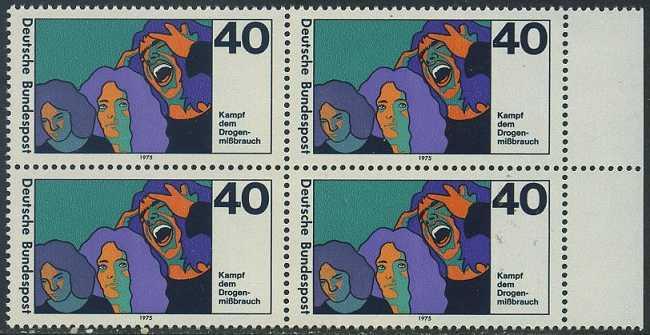 BUND 1975 Michel-Nummer 0864 postfrisch BLOCK RÄNDER rechts
