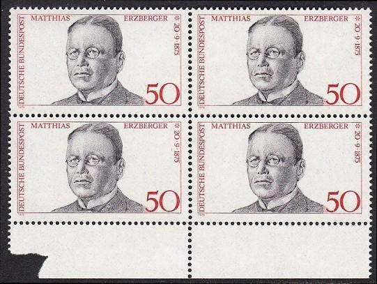 BUND 1975 Michel-Nummer 0865 postfrisch BLOCK RÄNDER unten 0