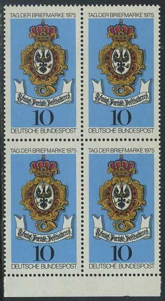 BUND 1975 Michel-Nummer 0866 postfrisch BLOCK RÄNDER unten