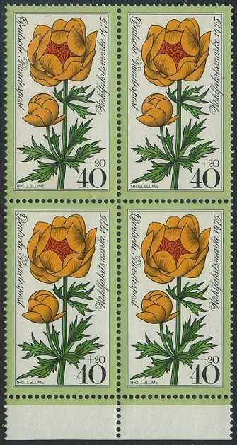 BUND 1975 Michel-Nummer 0868 postfrisch BLOCK RÄNDER unten