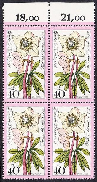 BUND 1975 Michel-Nummer 0874 postfrisch BLOCK RÄNDER oben 0